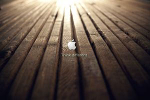 logo apple inc. wood