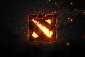 logo digital art dota fire