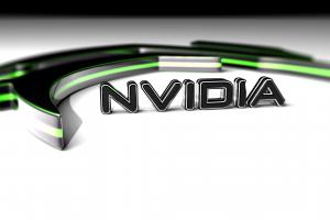 logo digital art white background nvidia