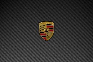 logo minimalism car porsche