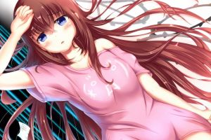 long hair anime anime girls makise kurisu steins;gate