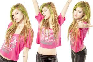 long hair celebrity arms up avril lavigne singer collage women
