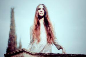 long hair model women