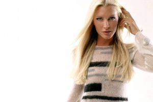 long hair women portrait model sweater blonde simple background caprice bourrett