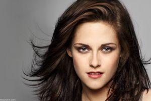 looking at viewer kristen stewart women face actress green eyes portrait brunette