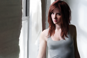 looking at viewer redhead susan coffey women