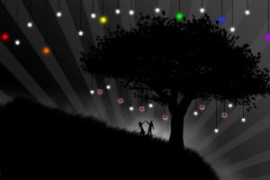love selective coloring vector rainbows trees