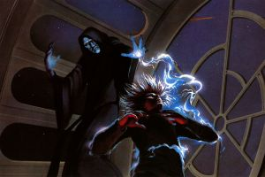 luke skywalker sith star wars science fiction jedi artwork emperor palpatine force lightning