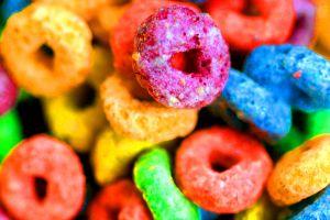 macro candy food sweets