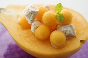 macro food green orange fruit
