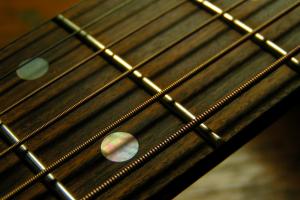 macro guitar musical instrument