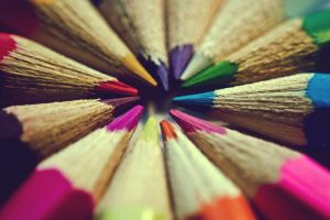 macro pencils colorful