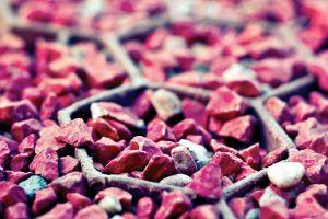 macro red rock stones