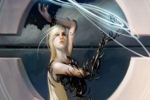 magic: the gathering digital art artwork fantasy girl women fantasy art blonde