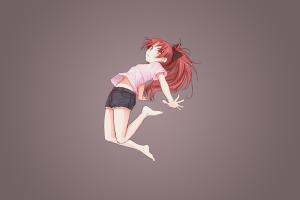 mahou shoujo madoka magica anime girls simple background sakura kyouko