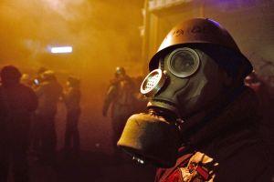 maidan ukrainian gas masks ukraine