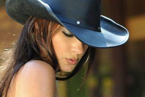 makeup hat women long hair