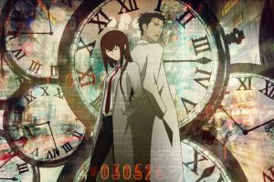 makise kurisu okabe rintarou anime girls steins;gate