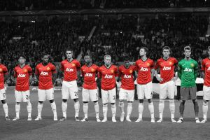 manchester united  selective coloring david de gea robin van persie nani footballers