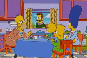 marge simpson lisa simpson bart simpson ned flanders homer simpson the simpsons