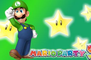 mario party luigi video games green background nintendo stars