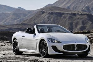 maserati grancabrio sports car car white cars cabriolet