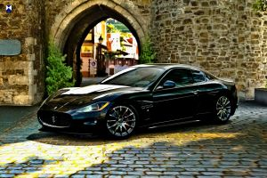 maserati granturismo vehicle car hdr wall black cars maserati