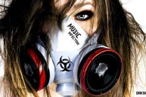 mask gas masks headphones music women