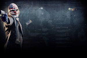 mask payday 2 gun video games gangster money video game art