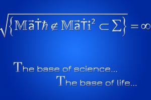 mathematics symbols quote blue