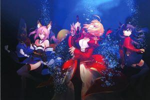 matou sakura fate/extra type-moon takeuchi takashi saber empress nero  caster (fate/extra) anime girls anime