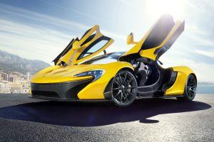 mclaren p1 car yellow cars vehicle