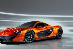 mclaren p1 sports car car coupe orange cars