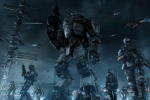 mech video games titanfall futuristic digital art