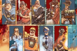 medic team fortress 2 spies pyro (character) engineer (character) sniper (tf2) heavy fire scout (character) video games