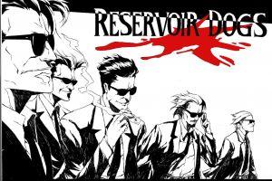 men reservoir dogs artwork blood smoking movies 1992 (year) shades quentin tarantino