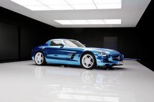 mercedes benz blue cars mercedes sls vehicle car