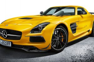 mercedes-benz car vehicle yellow cars numbers