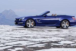 mercedes sl 65 amg vehicle blue cars mercedes-benz car