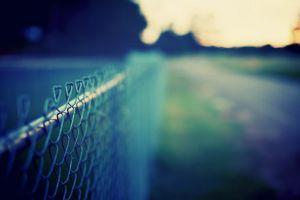 metal fence depth of field