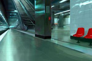 metro artwork underground