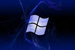 microsoft windows logo digital art blue