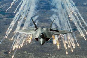 military aircraft aircraft jets vehicle lockheed martin f-22 raptor military