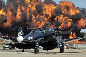 military aircraft airplane aircraft explosion