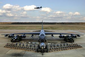 military aircraft bomber weapon airplane boeing b-52 stratofortress bombs aircraft vehicle