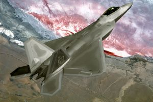 military aircraft f-22 raptor airplane military