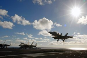 military aircraft f/a-18 hornet aircraft carrier military jets aircraft airplane clouds