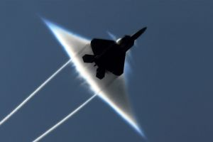 military sonic booms aircraft f-22 raptor military aircraft jets
