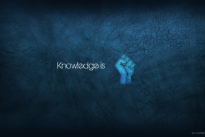 minimalism blue fists typography blue background