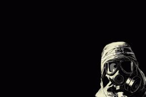 minimalism dark gas masks